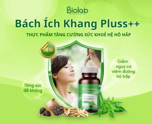 BÁCH ÍCH KHANG PLUSS++  - hỗ trợ giảm nguy cơ viêm đường hô hấp do sức đề kháng thấp ( 30 viên)